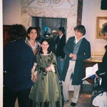 Patricia Varvari, Maya Sansa, Giorgio Pasotti sul set di David Copperfield