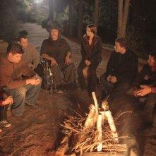 Danny Trejo si prepara al ciak insieme al resto del cast sul set di Succhiami