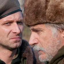 In the Land of Blood and Honey: Rade Serbedzija e Goran Kostic in una scena del film