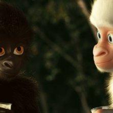 Copito de Nieve: una scena con il candido Fiocco di Neve e un altro gorilla