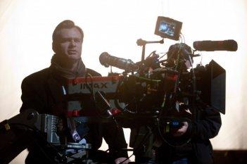 Christopher Nolan sul set de Il cavaliere oscuro - Il ritorno