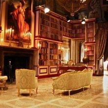 La Figlia di Elisa Ritorno a Rivombrosa - scenografia della biblioteca realizzata da G. Pirrotta