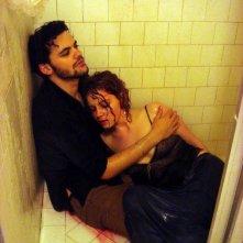 Matias Masucci con Caitlin Dahl sul set di Five O Four