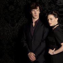 Sherlock: Benedict Cumberbatch e Lara Pulver nell'episodio A Scandal in Belgravia