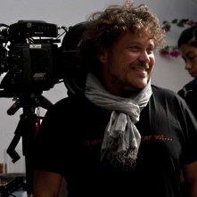 Il produttore Marco Belardi di Lotus Production sul set di Immaturi - Il viaggio