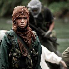 Timothy Mabalot in una scena del film Captive
