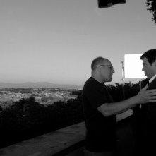 Carlo Verdone e Pierfrancesco Favino sul set di Posti in piedi in Paradiso al Gianicolo
