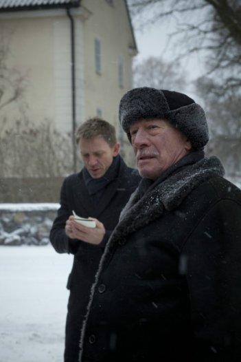 Daniel Craig insieme a Christopher Plummer in una scena di Millennium - Uomini che odiano le donne