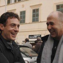Elio Germano sul set del film Magnifica presenza insieme al regista Ferzan Ozpetek