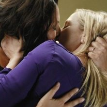 Grey's Anatomy: Jessica Capshaw e Sara Ramirez nell'episodio Poker Face