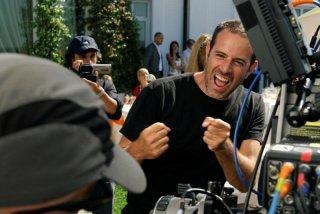 Il regista Fausto Brizzi sul set del film Com'è bello far l'amore