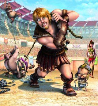 La prima immagine del film d'animazione Gladiatori di Roma