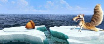 Scrat in una delle prime immagini de L'era glaciale 4: Continenti alla deriva