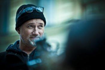 Il regista David Fincher sul set di Millennium - Uomini che odiano le donne
