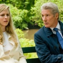 Richard Gere insieme a Brit Marling in una scena del thriller Arbitrage