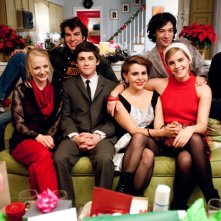 Foto di gruppo per il cast di The Perks of Being a Wallflower. Tra gli interpreti troviamo Logan Lerman, Emma Watson, Mae Whitman, Ezra Miller e Nicholas Braun