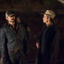 Justified: Jeremy Davies e Timothy Olyphant nell'episodio Reckoning