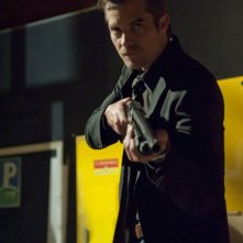 Justified: Timothy Olyphant in una scena dell'episodio Debts and Accounts