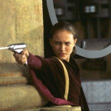 Natalie Portman nei panni della regina Amidala in una scena di Star Wars: Episode I - La minaccia fantasma 3D