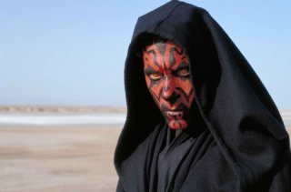 Ray Park nei panni di Darth Maul in una foto promozionale di Star Wars: Episode I - La minaccia fantasma 3D