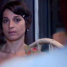 Donatella Finocchiaro in una scena del film on the road Sulla strada di casa