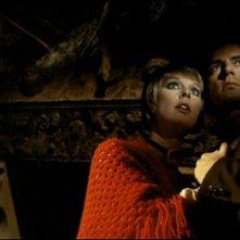 Elke Sommer con Antonio Cantafora ne Gli orrori del castello di Norimberga