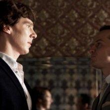 Faccia a faccia tra Benedict Cumberbatch e Andrew Scott in The Reichembach Fall