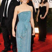 Jodie Foster sfila sul tappeto rosso dei Golden Globes 2012