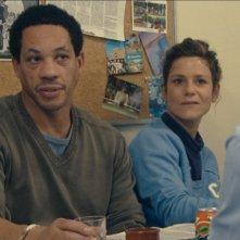 Marina Foïs in una scena del film Polisse insieme a Joey Starr