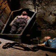 Luciano Pigozzi e Elke Sommer in una scena de Gli orrori del castello di Norimberga