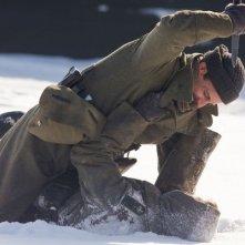 Silencio en la nieve: Juan Diego Botto in una sequenza del dramma bellico