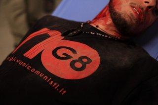 Un'impressionante immagine tratta dal film drammatico Diaz - Non pulire questo sangue