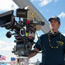 Battleship: il regista Peter Berg impegnato sul set del film