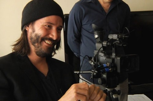 Keanu Reeves in una scena del documentario Side by Side