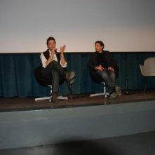 Marco Farina durante la presetazione del film L'ULTIMA GUERRA al Centro Culturale Elsa Morante di Roma