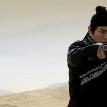 Jet Li in una scena del film The Flying Swords of Dragon Gate