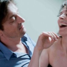 Juliette Binoche nel film Elles con Louis-Do de Lencquesaing