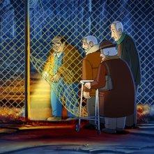 Arrugas (2012) una scena del film d'animazione