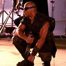 Il possente Vin Diesel sul set di Riddick