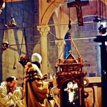 Film - Magnificat -  scenografia Chiesa della Visitazione (realizzata da G. Pirrotta) particolare del reliquiario