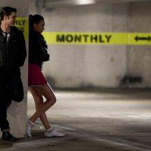 Glee: la guest star Grant Gustin con Naya Rivera nell'episodio Michael