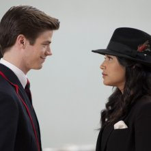 Glee: la guest star Grant Gustin insieme a Naya Rivera nell'episodio Michael