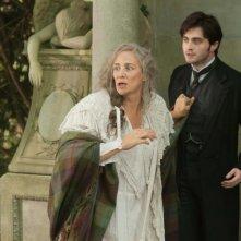 The Woman in Black: Daniel Radcliffe insieme a Janet McTeer in una scena del film