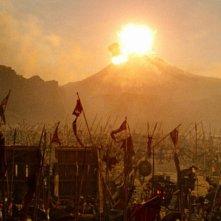 Wrath of the Titans: l'eruzione di un vulcano in una scena tratta dal film