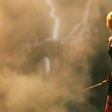 Wrath of the Titans: Rosamund Pike in una scena d'azione del film
