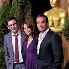 Academy Awards 2012: i candidati per The Artist Michel Hazanavicius, Bérénice Bejo e Jean Dujardin al Nominees Luncheon
