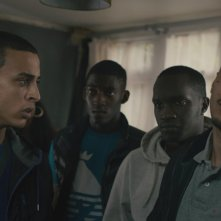 Fady Elsayed, Malachi Kirby, Arnold Oceng, Aymen Hamdouchi in My Brother the Devil
