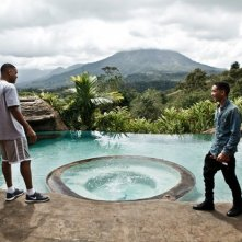 Will Smith e il figlio Jaden Smith sul set di After Earth