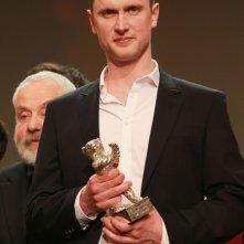 Berlino 2012: Mikkel Følsgaard dopo la consegna del premio per A Royal Affair