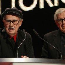Berlino 2012: Paolo e Vittorio Taviani dopo la consegna del premio per Cesare deve morire